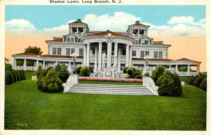 Postcard featuring Shadow Lawn