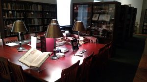 Photo of the Special Collections room of the Guggenheim Memorial Library at Monmouth University